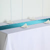 "12""x108"" Teal Satin Table Runner"