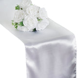 "12""x108"" White Satin Table Runner"