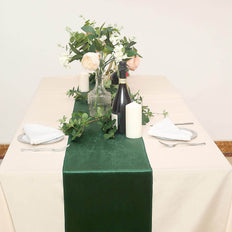 12 x 107| Hunter Emerald Green | Premium Velvet Table Runner