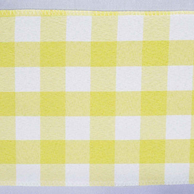 Gingham Chair Sashes | 5 PCS | Yellow/White | Buffalo Plaid Checkered Polyester Chair Sashes