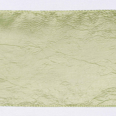 5pc x Chair Sash Taffeta Crinkle - Apple Green