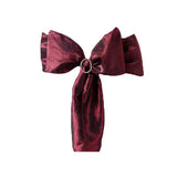 "5 PCS | 6""x106"" Burgundy Crinkle Crushed Taffeta Chair Sashes"