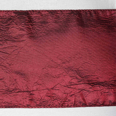 5pc x Chair Sash Taffeta Crinkle - Burgundy