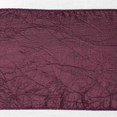 5pc x Chair Sash Taffeta Crinkle - Eggplant