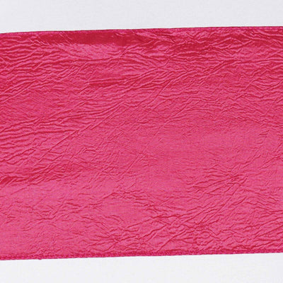 5pc x Chair Sash Taffeta Crinkle - Fushia
