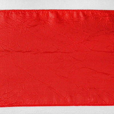 5pc x Chair Sash Taffeta Crinkle - Red