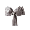 "5 PCS | 6""x106"" Silver Crinkle Crushed Taffeta Chair Sashes"