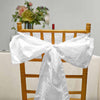 "5 PCS | 6""x106"" White Crinkle Crushed Taffeta Chair Sashes"