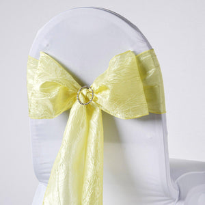 5pc x Chair Sash Taffeta Crinkle - Yellow