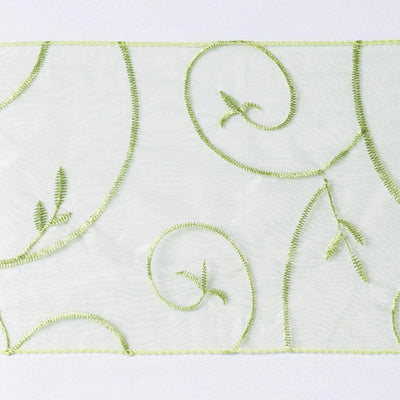 5pc x Chair Sash Embroider - Sage