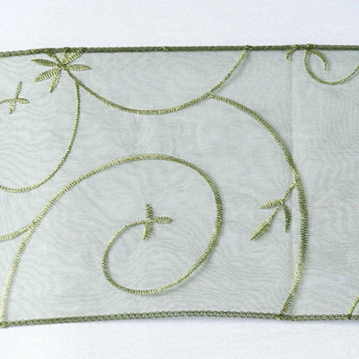 5pc x Chair Sash Embroider - Willow Green