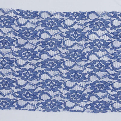 "5 PCS Navy Blue LACE Chair Sashes Tie Bows Catering Wedding Party Decorations - 6""x108"""