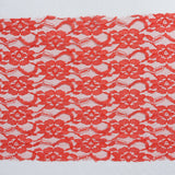 5 PCS | 6 inch x 108 inch Red Lace Chair Sash