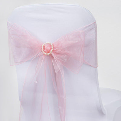 5pc x Chair Sash Organza - Rose Quartz