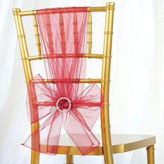 5 PCS | Coral Sheer Organza Chair Sashes - Clearance SALE