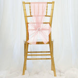 5 PCS | Blush | Rose Gold Sheer Organza Chair Sashes