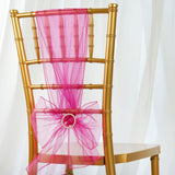 5pc x Chair Sash Organza - Hot Pink