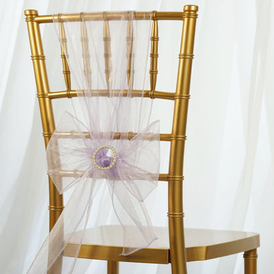 5pc x Chair Sash Organza - Lavender