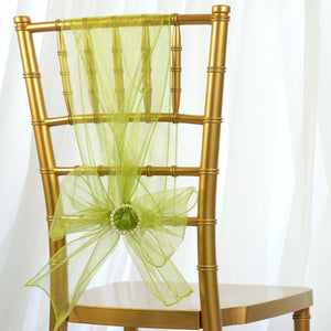 5pc x Chair Sash Organza - Sage Green
