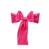 5 PCS | FUSHIA Polyester Chair Sashes