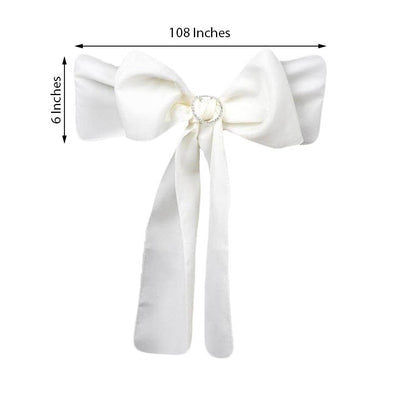 5 PCS | IVORY Polyester Chair Sashes