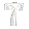 "5 PCS | 6"" x 108"" Ivory Polyester Chair Sash"