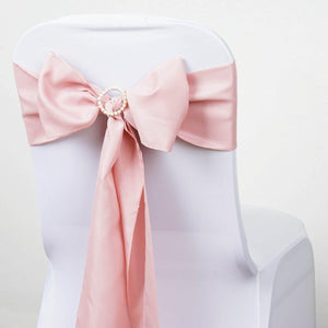 5 PCS MAUVE Polyester Chair Sashes Tie Bows Catering Wedding Party Decorations - 6x108""