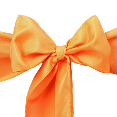"5 PCS | 6"" x 108"" Orange Polyester Chair Sash"