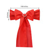 "5 PCS | 6"" x 108"" Red Polyester Chair Sash"