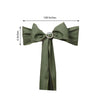 "5 PCS | 6"" x 108"" Moss Green Polyester Chair Sash"