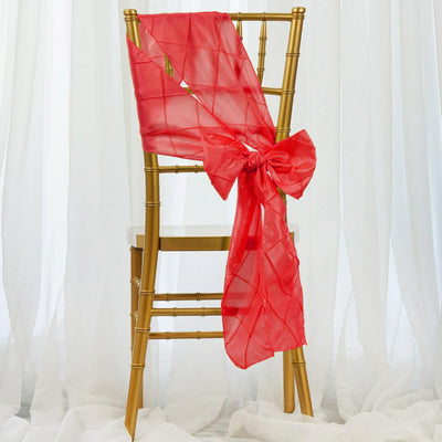 "5 Pack | 7""x106"" Coral Pintuck Chair Sash - Clearance SALE"