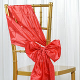 5pc x Chair Sash Pintuck - Coral
