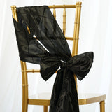5pc x Chair Sash Pintuck - Black