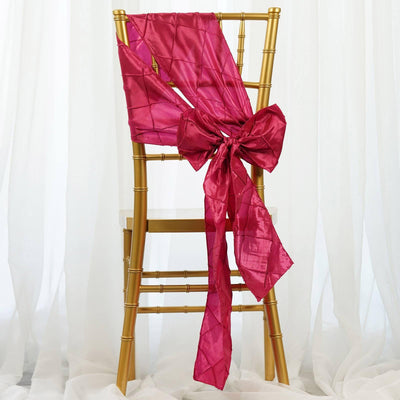 5pc x Chair Sash Pintuck - Fushia