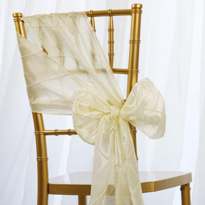 5pc x Chair Sash Pintuck - Ivory