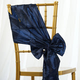 5pc x Chair Sash Pintuck - Navy Blue