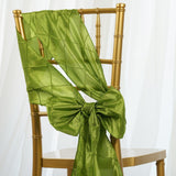 5 PCS | 7 Inch x 106 Inch | Sage Green Pintuck Chair Sash  | TableclothsFactory