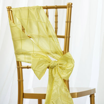 5pc x Chair Sash Pintuck - Yellow
