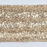 5pc x Spandex Sequined Chair Sash - Champagne