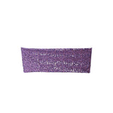 "5 pack | 6""x15"" Purple Sequin Spandex Chair Sash"