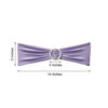 "5 pack | 5""x14"" Lavender Spandex Stretch Chair Sash with Silver Diamond Ring Slide Buckle"
