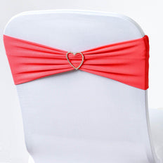 5pc x Chair Sash Spandex - Coral