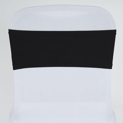 5pc x Chair Sash Spandex - Black