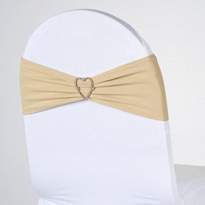 5pc x Chair Sash Spandex - Champagne