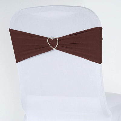 5pc x Chair Sash Spandex - Chocolate