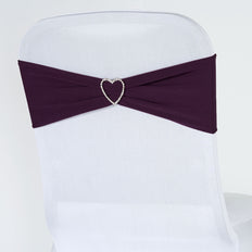 5pc x Chair Sash Spandex - Eggplant