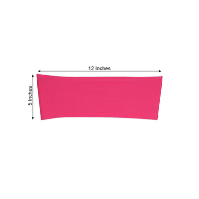 "5 pack | 5""x12"" Fushia Spandex Stretch Chair Sash"