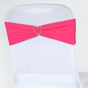 5pc x Chair Sash Spandex - Fushia
