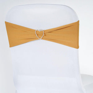 5pc x Chair Sash Spandex - Gold