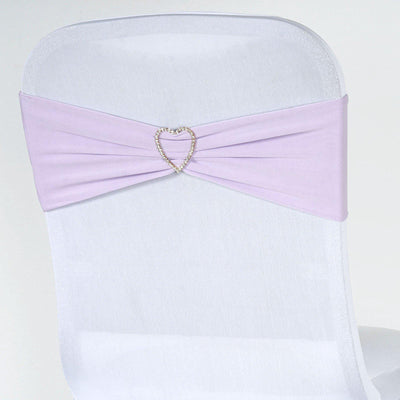 5pc x Chair Sash Spandex - Lavender